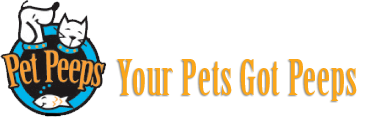 pet peeps logo with tagline